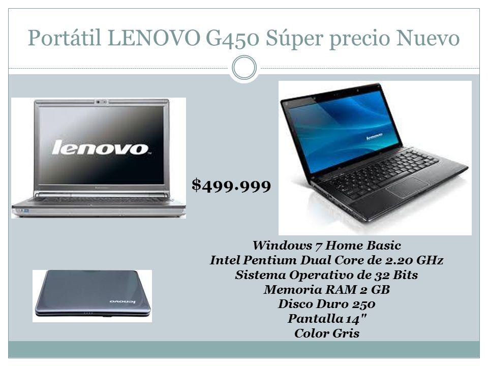 Portátil LENOVO G450 Súper precio Nuevo
