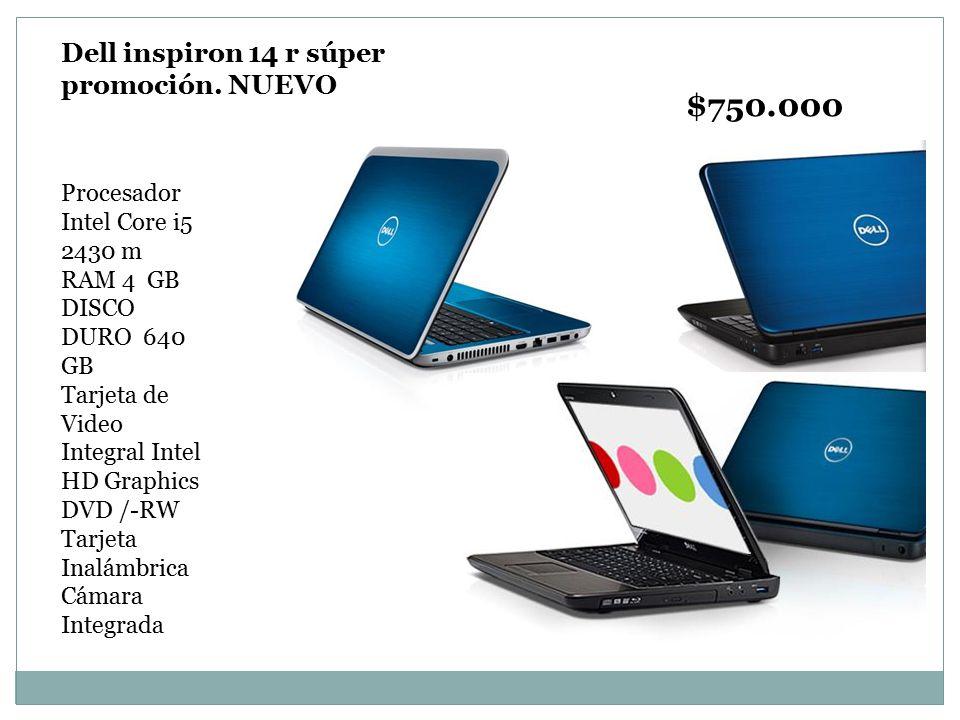 $750.000 Dell inspiron 14 r súper promoción. NUEVO