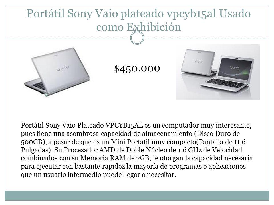 Portátil Sony Vaio plateado vpcyb15al Usado como Exhibición