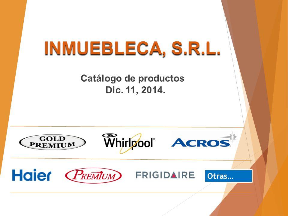INMUEBLECA, S.R.L. Catálogo de productos Dic. 11, 2014. Otras…