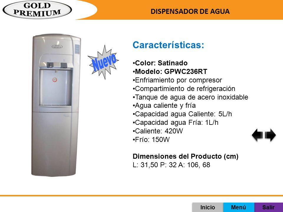 Características: DISPENSADOR DE AGUA Color: Satinado Modelo: GPWC236RT