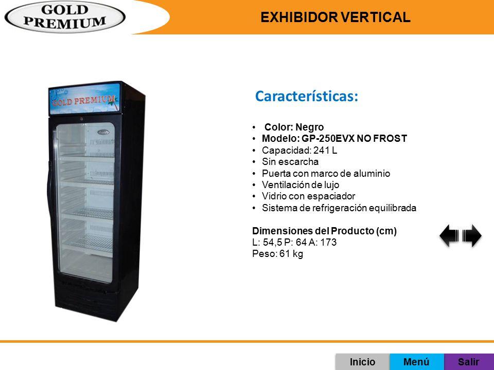 Características: Exhibidor Vertical Color: Negro