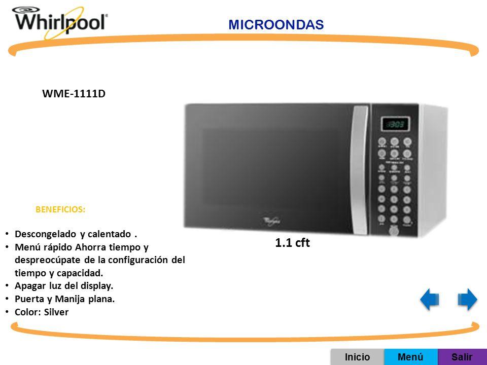 MICROONDAS 1.1 cft WME-1111D Descongelado y calentado .
