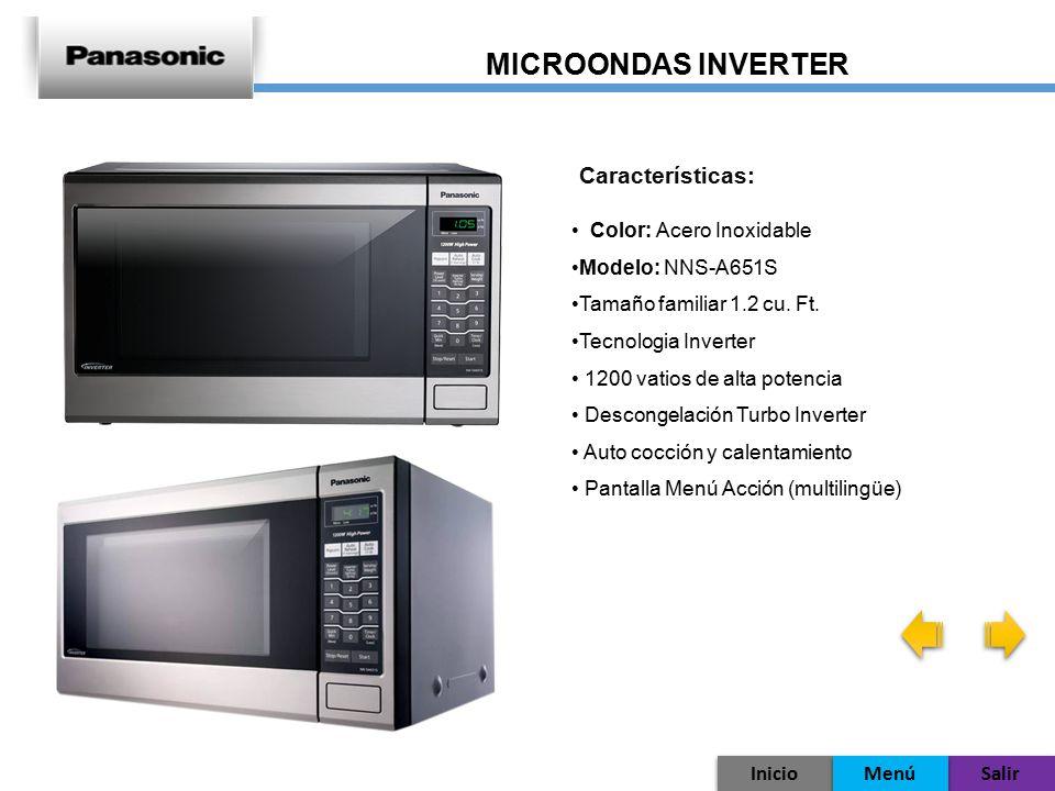 MICROONDAS INVERTER Características: Color: Acero Inoxidable