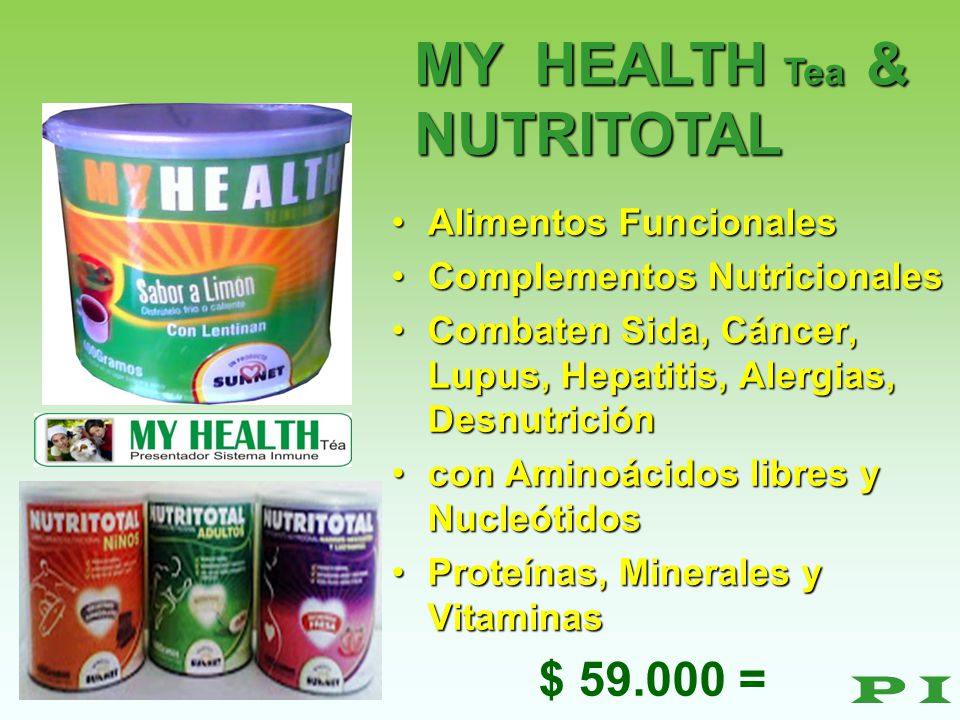 MY HEALTH Tea & NUTRITOTAL