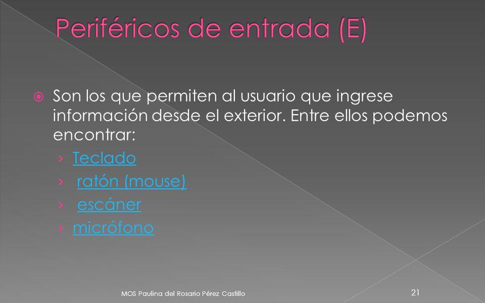 Periféricos de entrada (E)