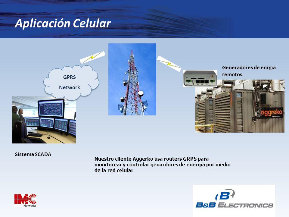 Aplicación Celular Generadores de enrgia remotos GPRS Network