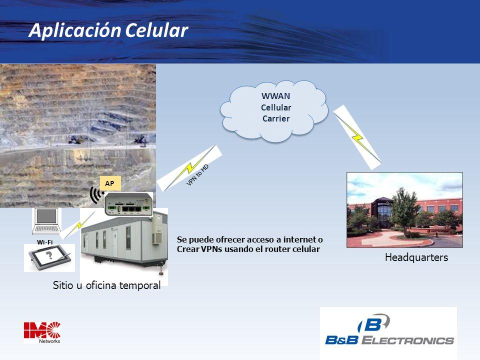 Aplicación Celular Headquarters Sitio u oficina temporal