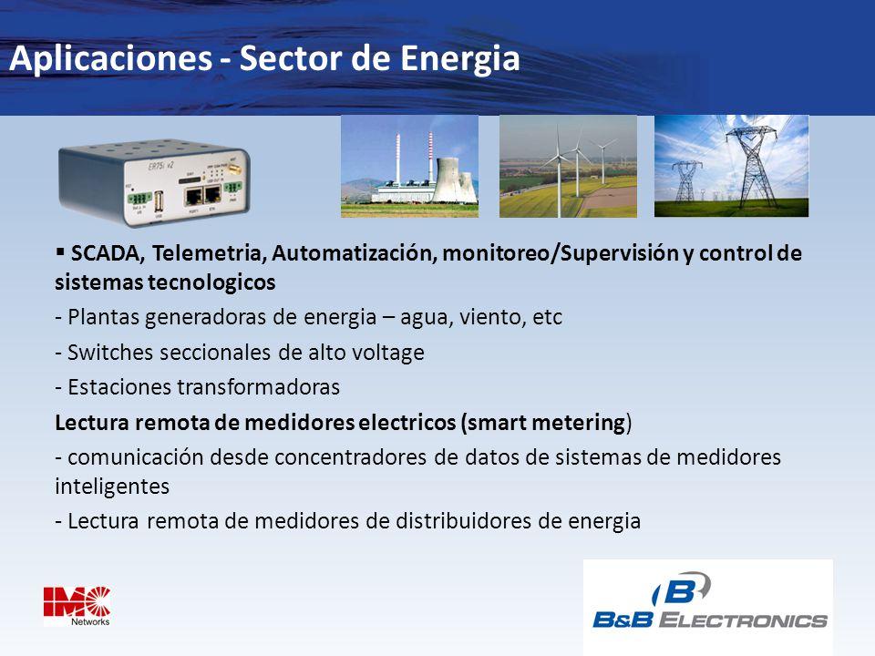 Aplicaciones - Sector de Energia