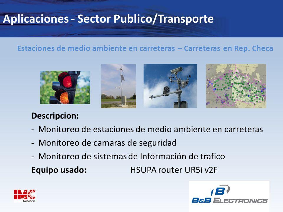 Aplicaciones - Sector Publico/Transporte