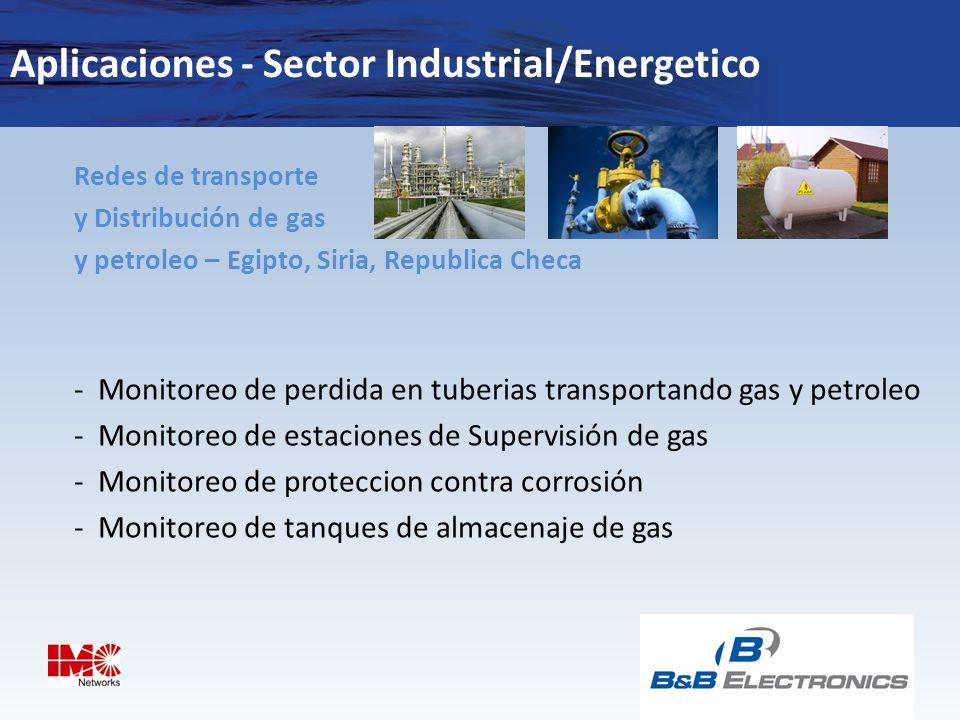 Aplicaciones - Sector Industrial/Energetico