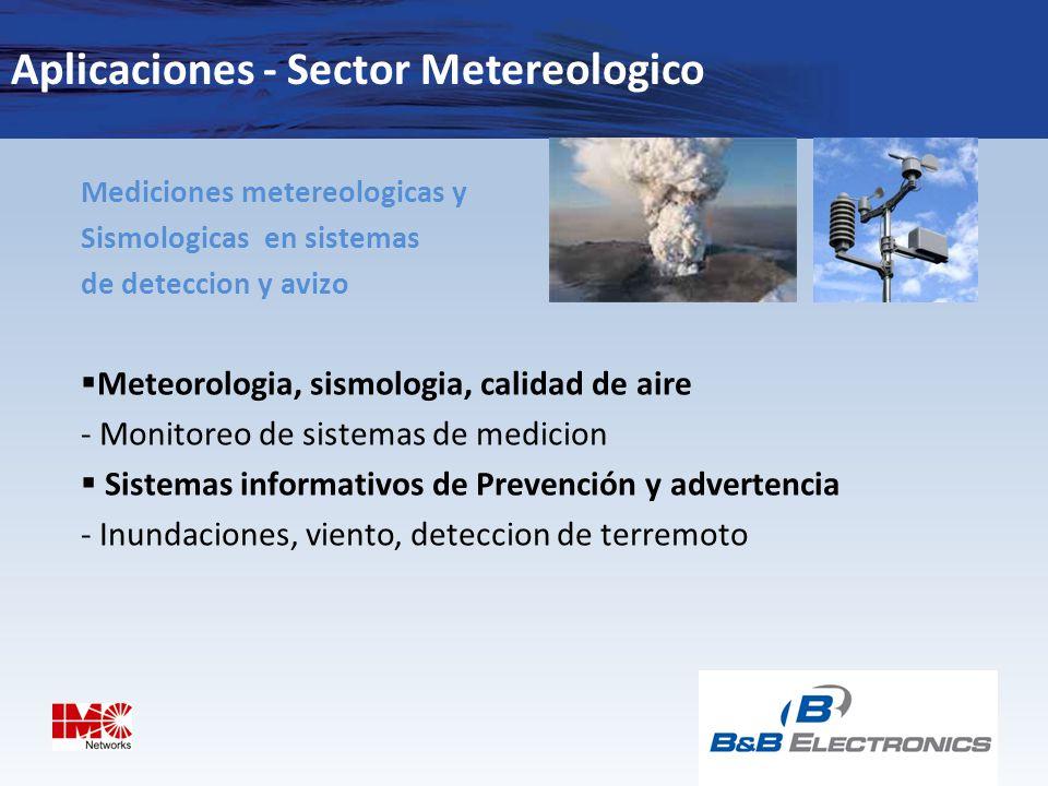 Aplicaciones - Sector Metereologico