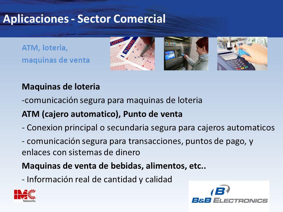 Aplicaciones - Sector Comercial