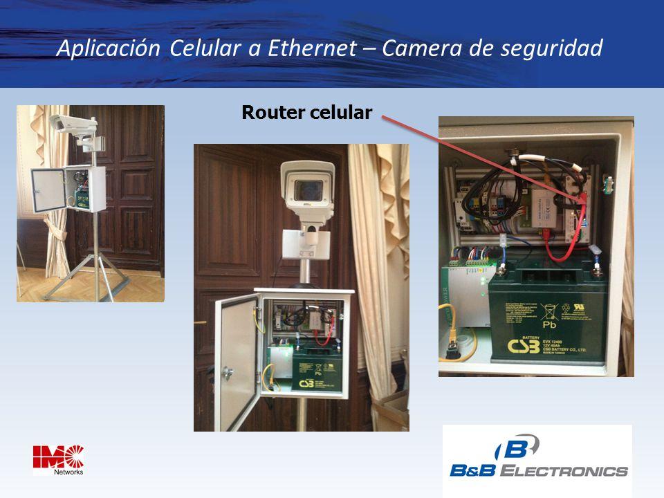 Aplicación Celular a Ethernet – Camera de seguridad
