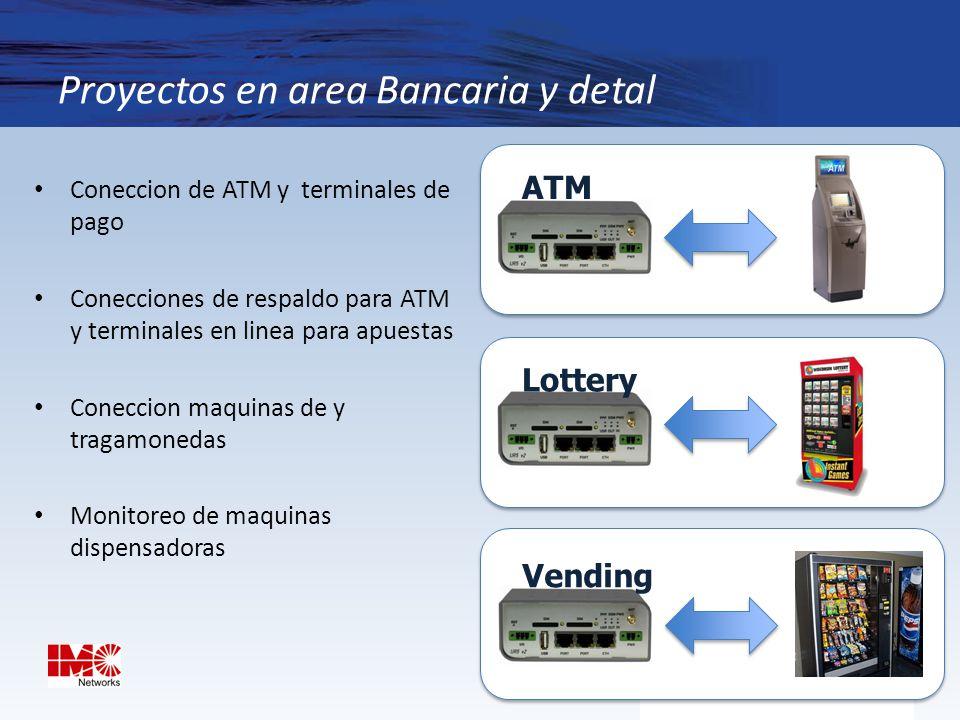 Proyectos en area Bancaria y detal