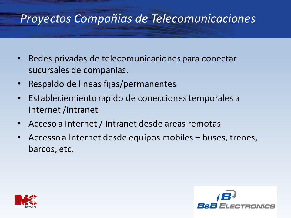 Proyectos Compañias de Telecomunicaciones
