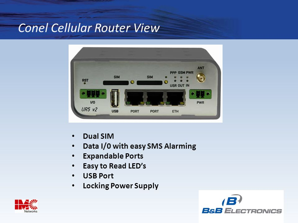 Conel Cellular Router View