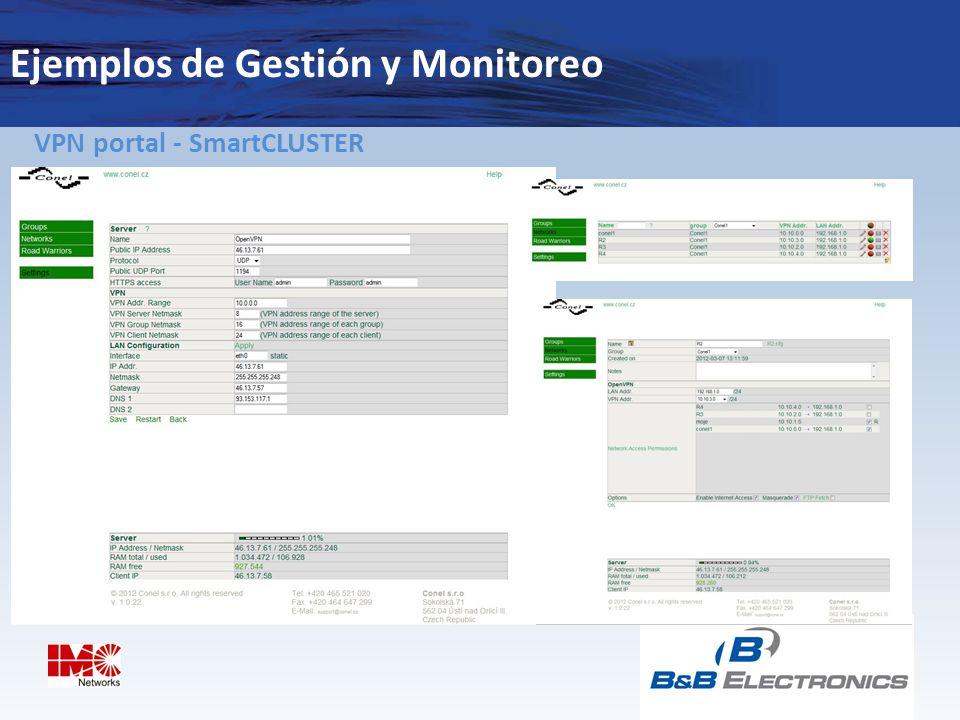 Ejemplos de Gestión y Monitoreo