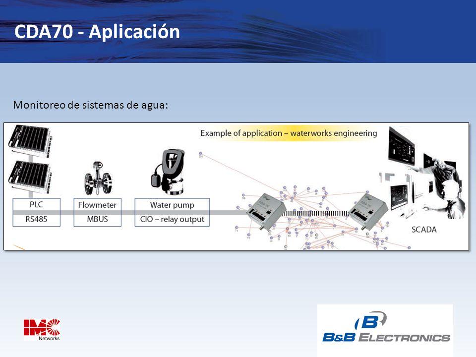 CDA70 - Aplicación Monitoreo de sistemas de agua: