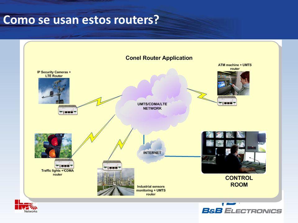 Como se usan estos routers