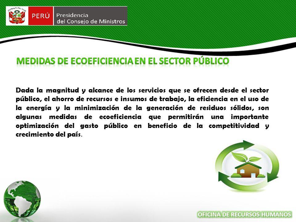 MEDIDAS DE Ecoeficiencia en el Sector público