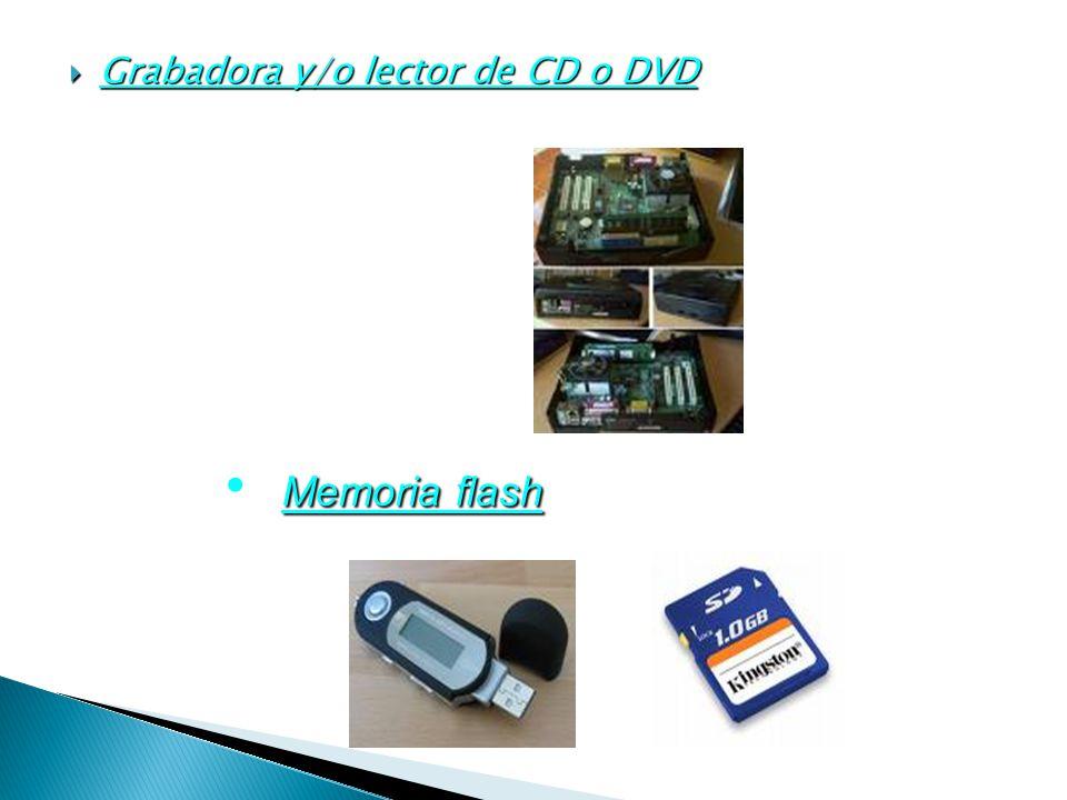 Grabadora y/o lector de CD o DVD