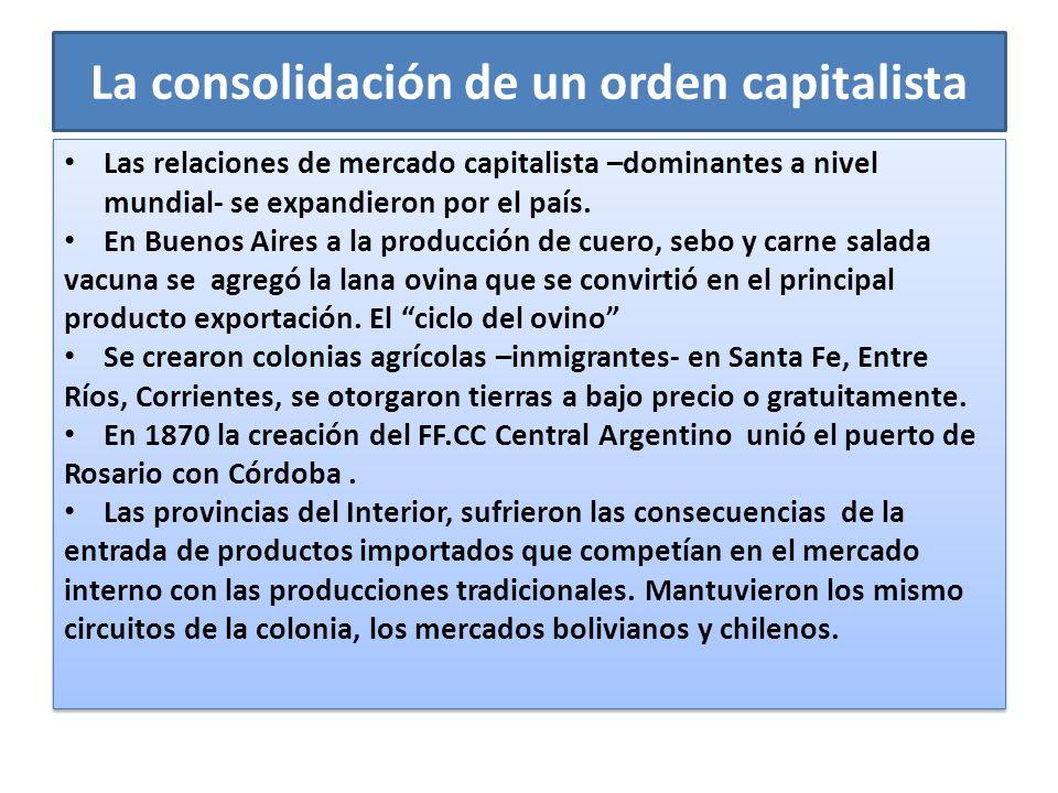 La consolidación de un orden capitalista