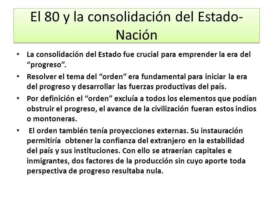 El 80 y la consolidación del Estado-Nación
