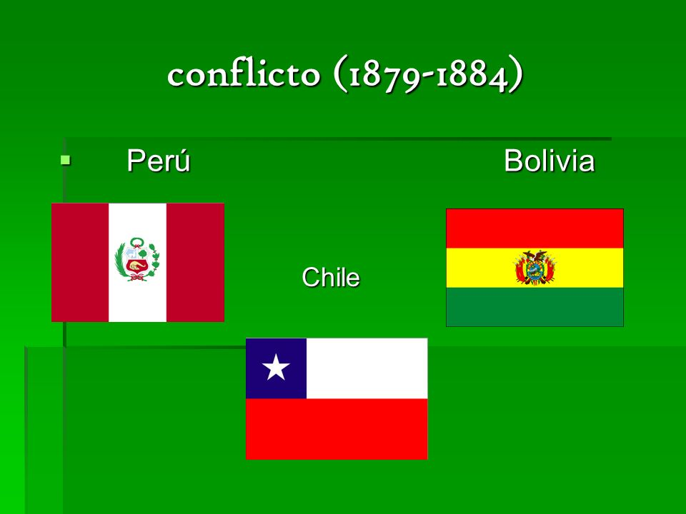 conflicto (1879-1884) Perú Bolivia Chile