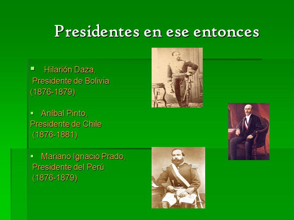 Presidentes en ese entonces