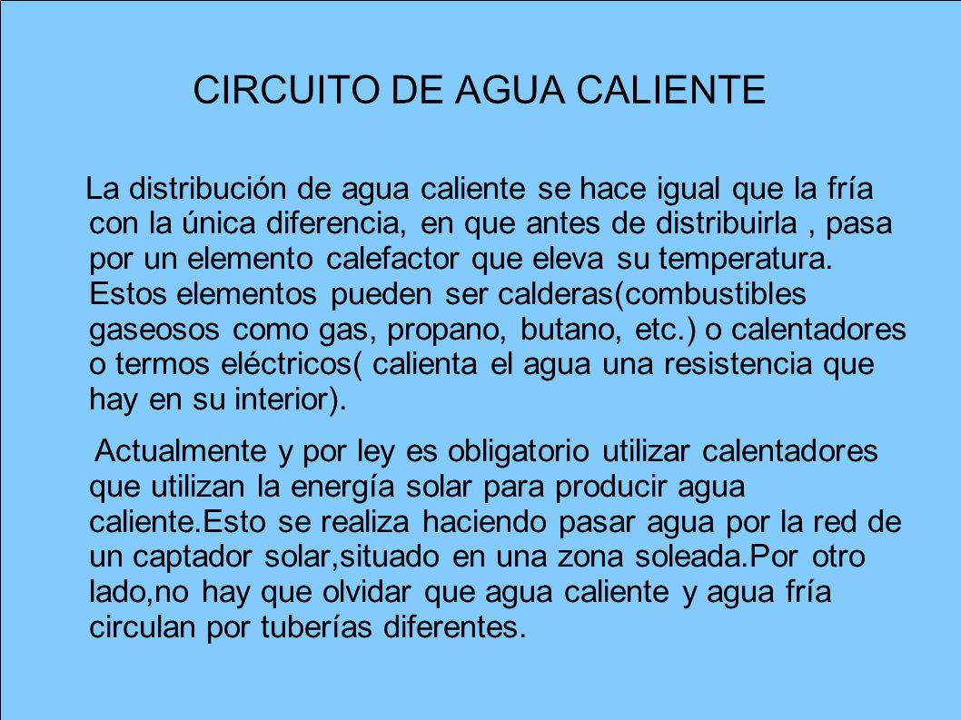 CIRCUITO DE AGUA CALIENTE