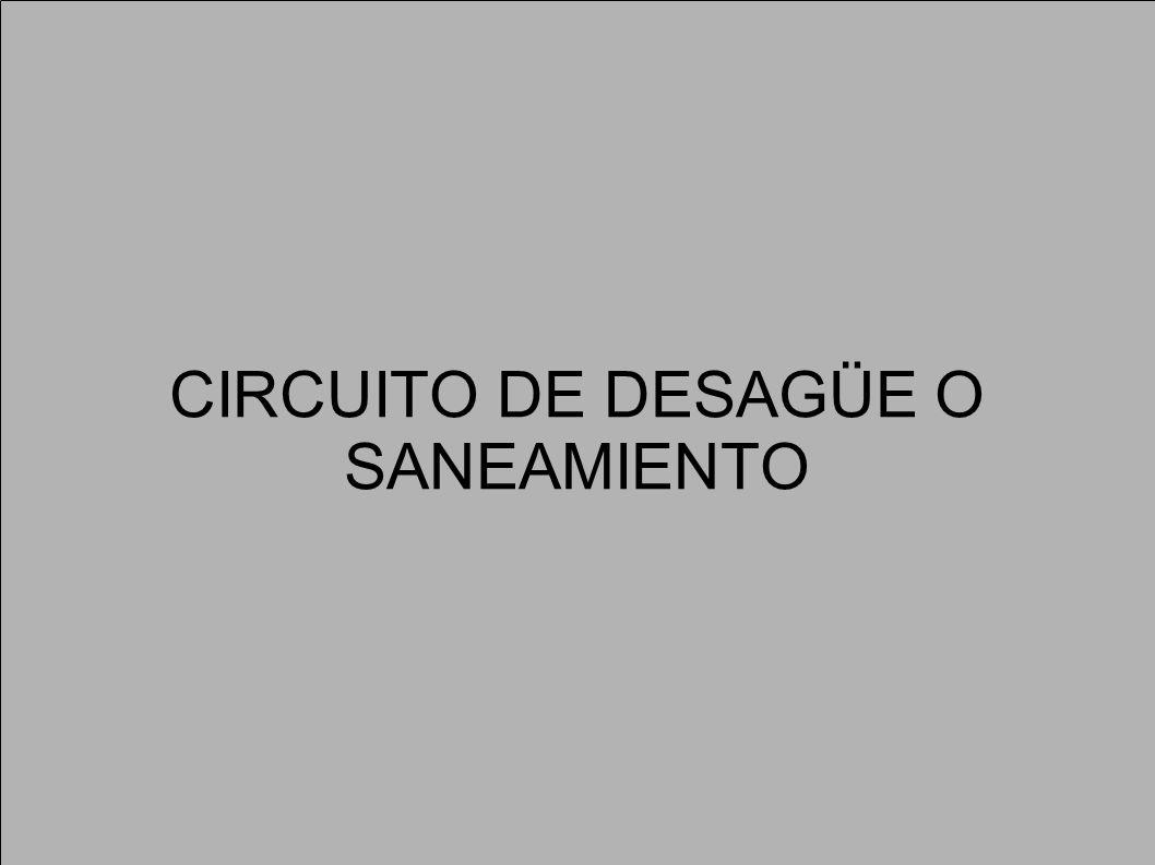 CIRCUITO DE DESAGÜE O SANEAMIENTO