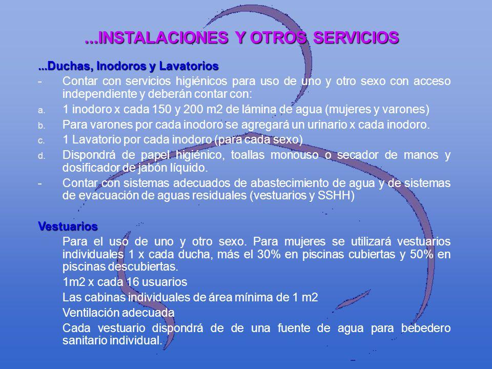...INSTALACIONES Y OTROS SERVICIOS