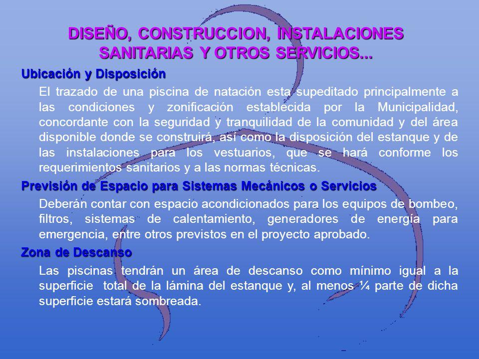 DISEÑO, CONSTRUCCION, INSTALACIONES SANITARIAS Y OTROS SERVICIOS...