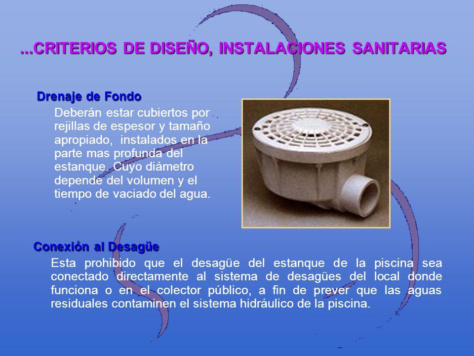 ...CRITERIOS DE DISEÑO, INSTALACIONES SANITARIAS