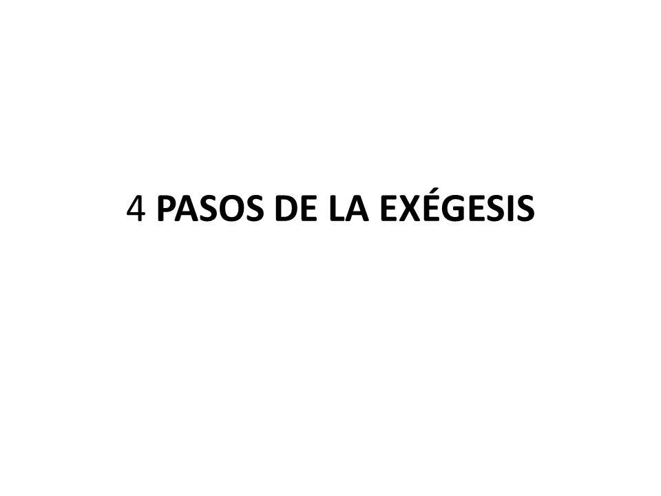 4 PASOS DE LA EXÉGESIS