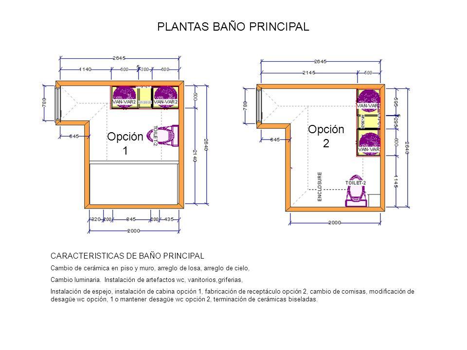 PLANTAS BAÑO PRINCIPAL
