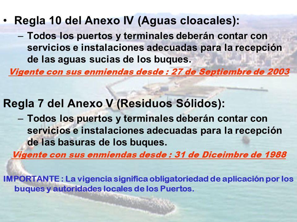 Regla 10 del Anexo IV (Aguas cloacales):