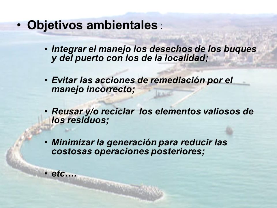 Objetivos ambientales :