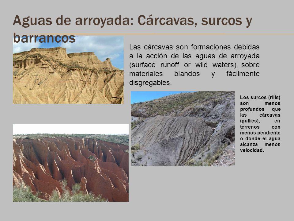Aguas de arroyada: Cárcavas, surcos y barrancos