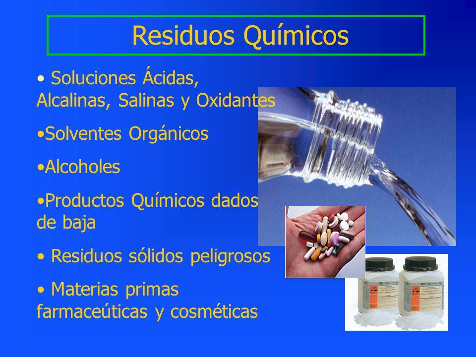 Residuos Químicos Soluciones Ácidas, Alcalinas, Salinas y Oxidantes