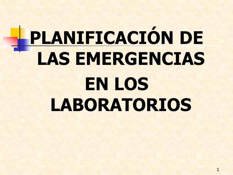 PLANIFICACIÓN DE LAS EMERGENCIAS