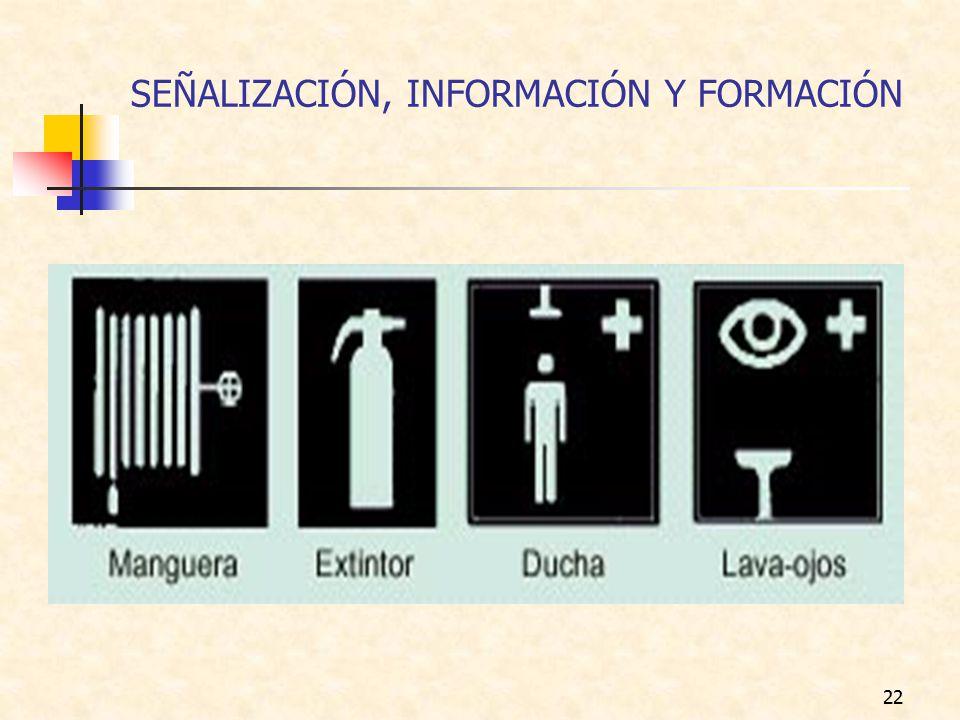SEÑALIZACIÓN, INFORMACIÓN Y FORMACIÓN