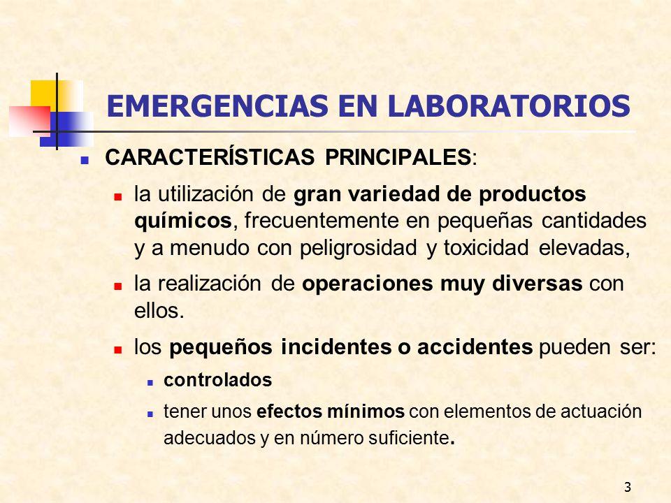 EMERGENCIAS EN LABORATORIOS