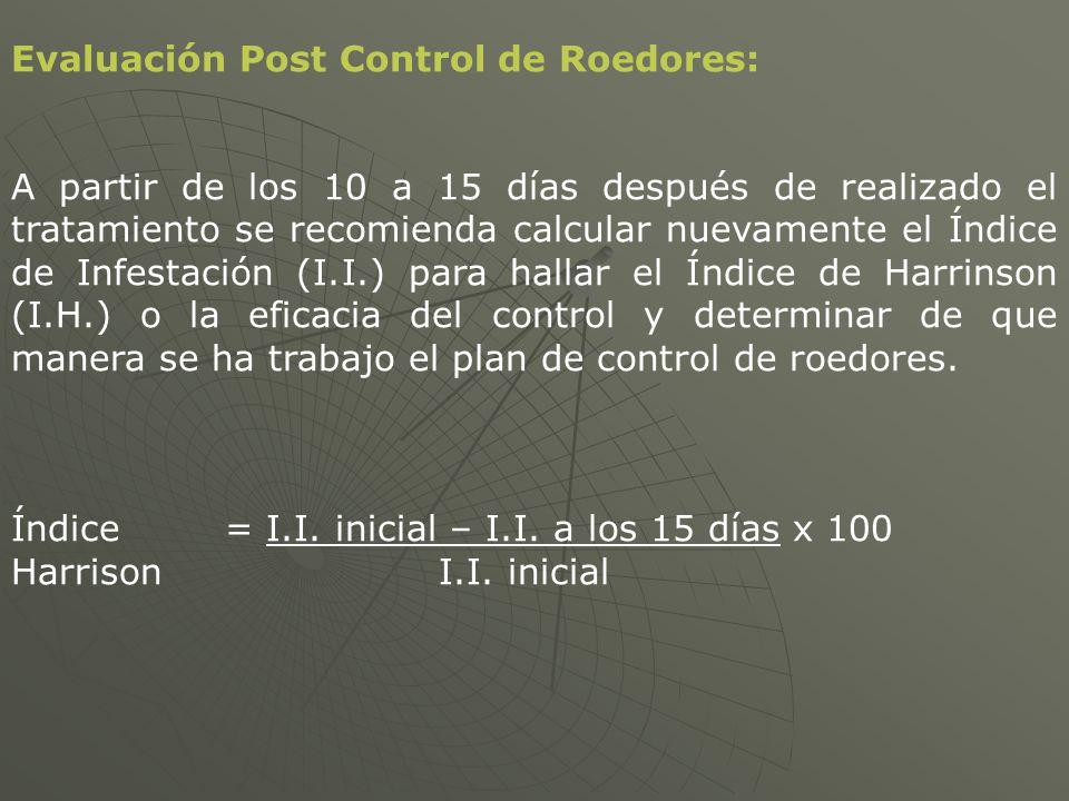 Evaluación Post Control de Roedores: