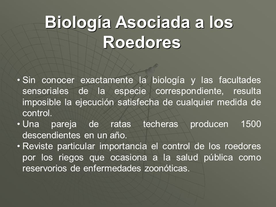 Biología Asociada a los Roedores