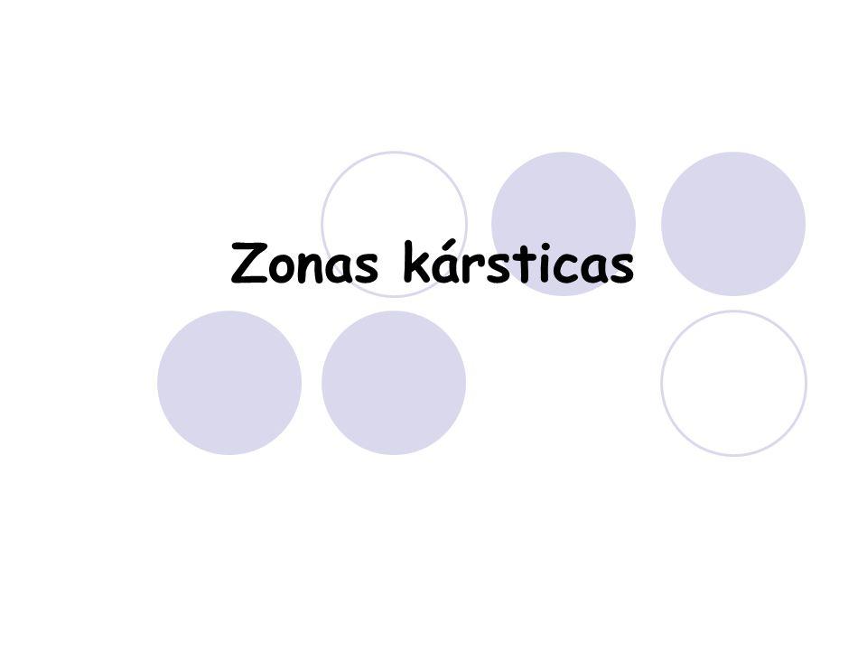 Zonas kársticas