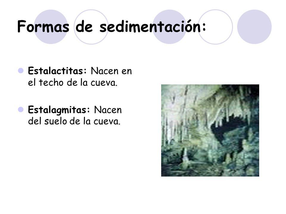 Formas de sedimentación: