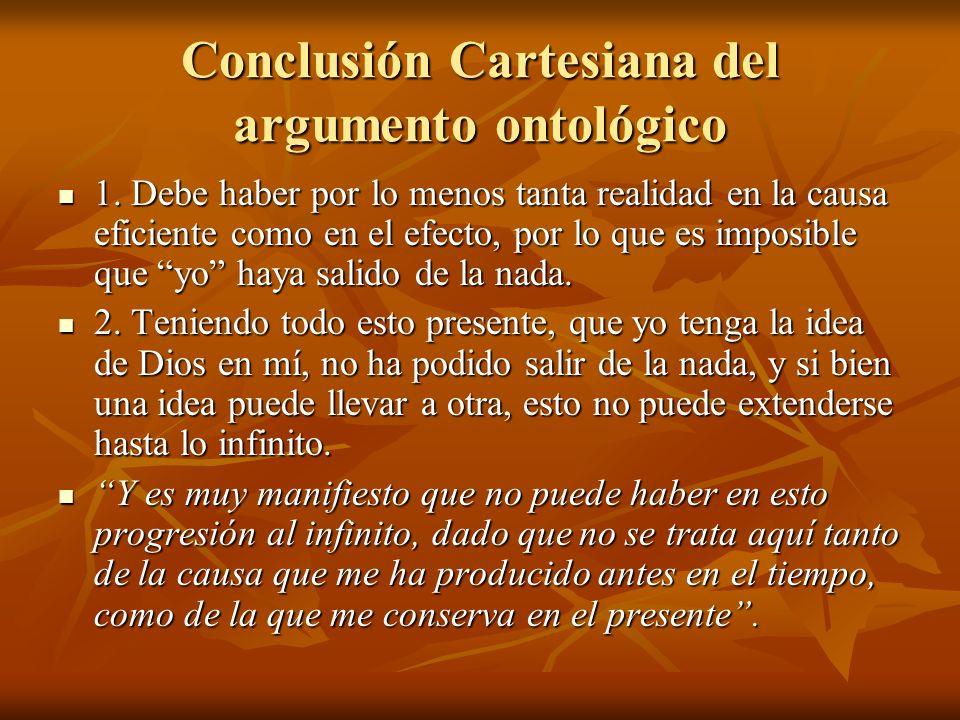 Conclusión Cartesiana del argumento ontológico