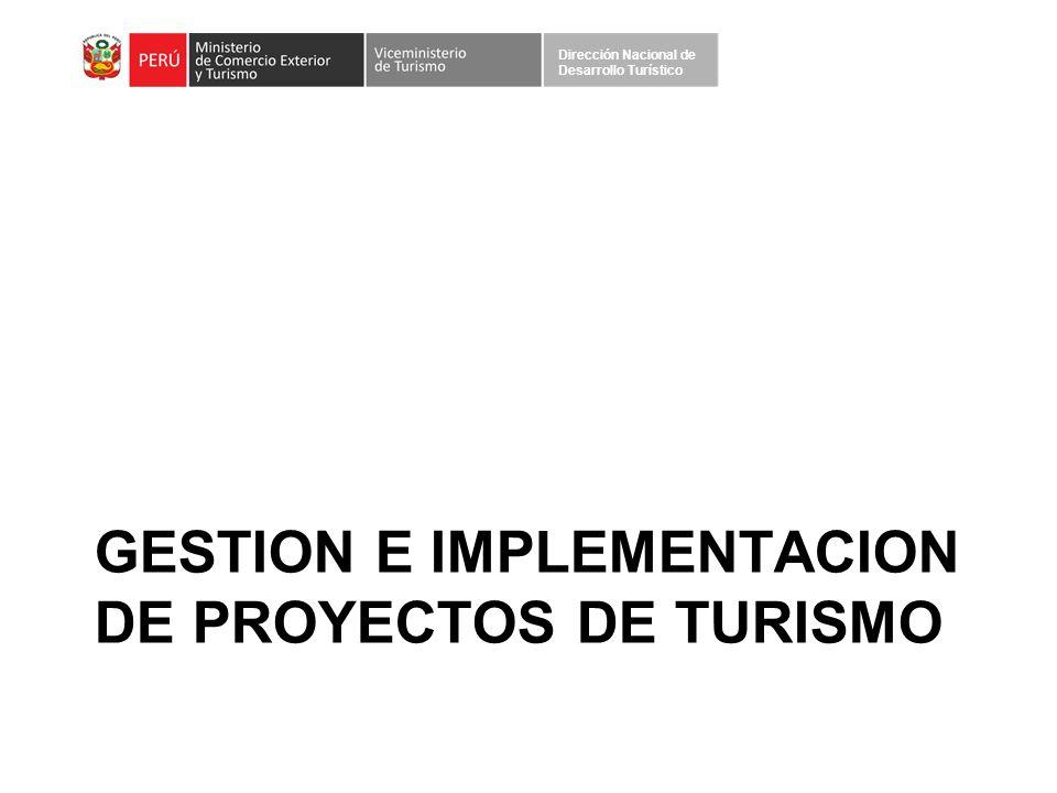 GESTION E IMPLEMENTACION DE PROYECTOS DE TURISMO